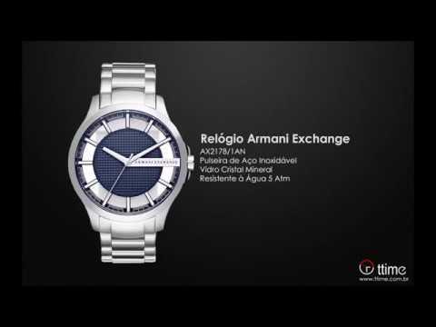 Relógio Armani Exchange AX2178 1AN - YouTube f1a0d0ad8f