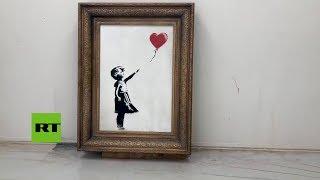 Banksy muestra cómo armó el mecanismo que destruyó su propia obra
