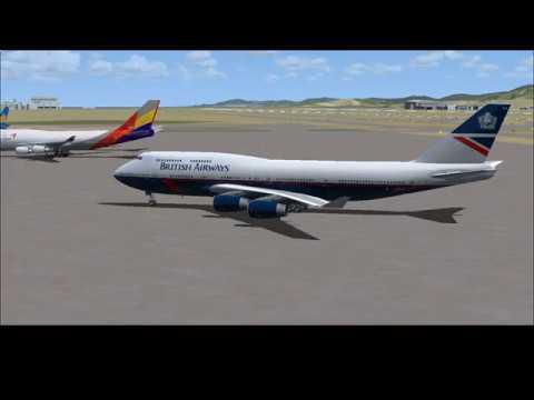 RKSI - VHHX (Vatsim) British airways 747 (hard approach)