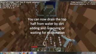 how to make under water glass tunnels in minecraft indev outdated
