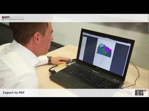 ATOS Compact Scan SO in use - Complete workflow of measuring small