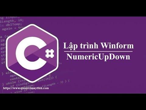 Lập trình C# winform - NumericUpDown