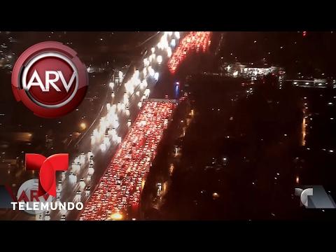 Diluvios azotan California | Al Rojo Vivo | Telemundo