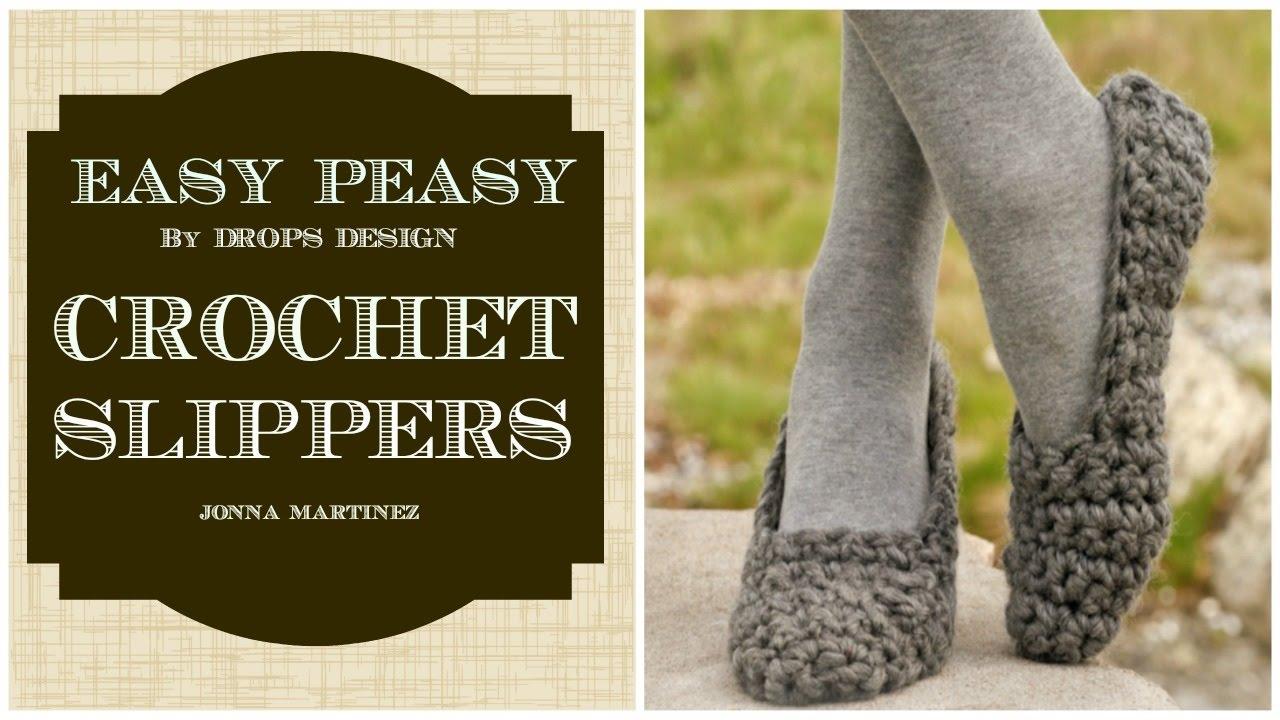 Simple Crochet Slippers Youtube