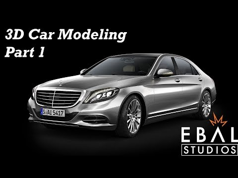 3D Car Polygon Modeling Timelapse Part1