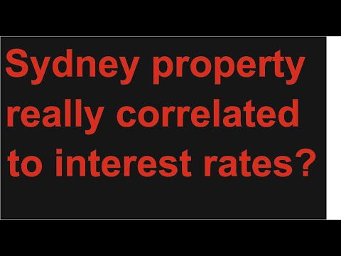 Is there really a correlation between Australian Sydney property housing prices and interest rates?