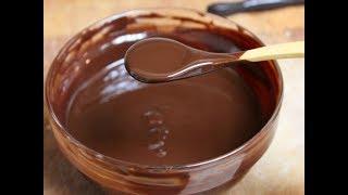 Приготовление шоколадной глазури из какао-порошка! Пошаговый рецепт! Рецепт шоколадной глазури.