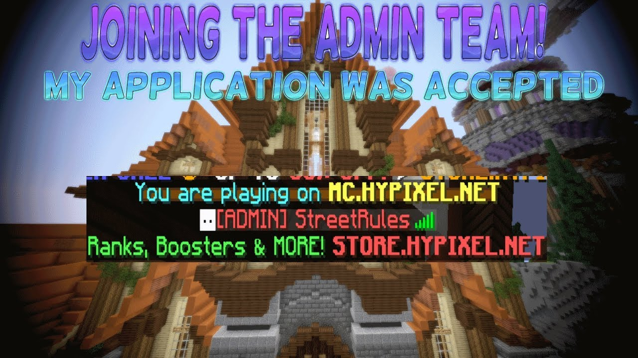 Hypixel April Fools Day 2018 - Admin Application Accepted! (Minecraft)