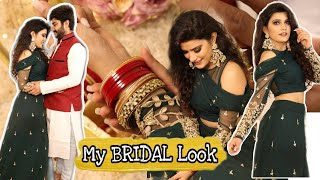 Finally Revealing My Bridal Look ❤️  Outfit + Make-up   Super Style Tips