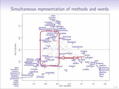 Text mining with correspondence analysis