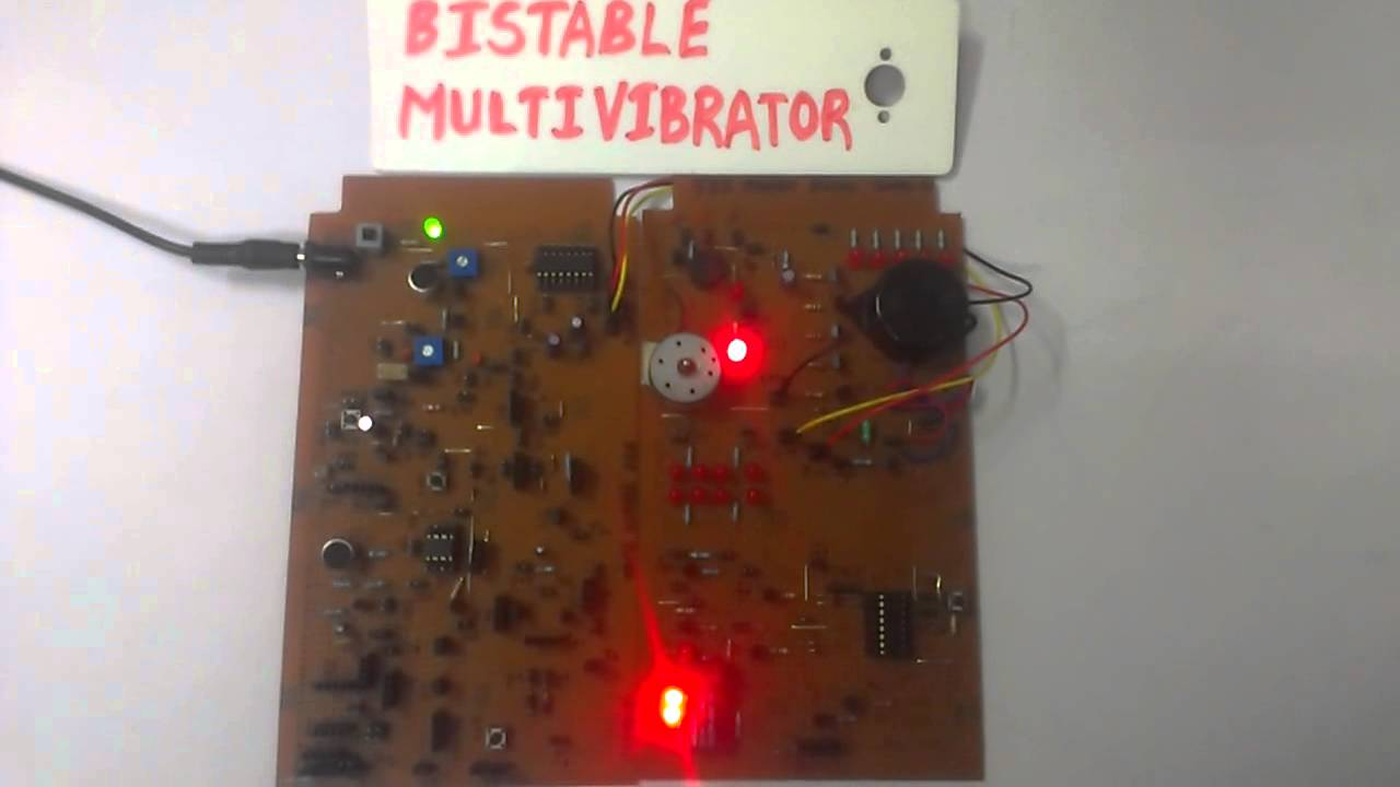Bistable Multivibrator Using 555 Timer Ic