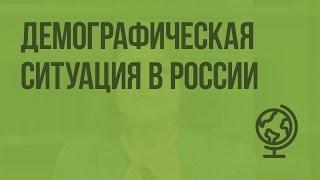 Демографическая ситуация в России. Видеоурок по географии 8 класс