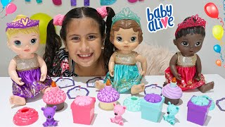 MARIA CLARA E JP BRINCAM COM A BABY ALIVE FESTA SURPRESA