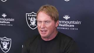 "Raiders coach Jon Gruden following Kansas City Chiefs loss: ""We didn't get it done."""