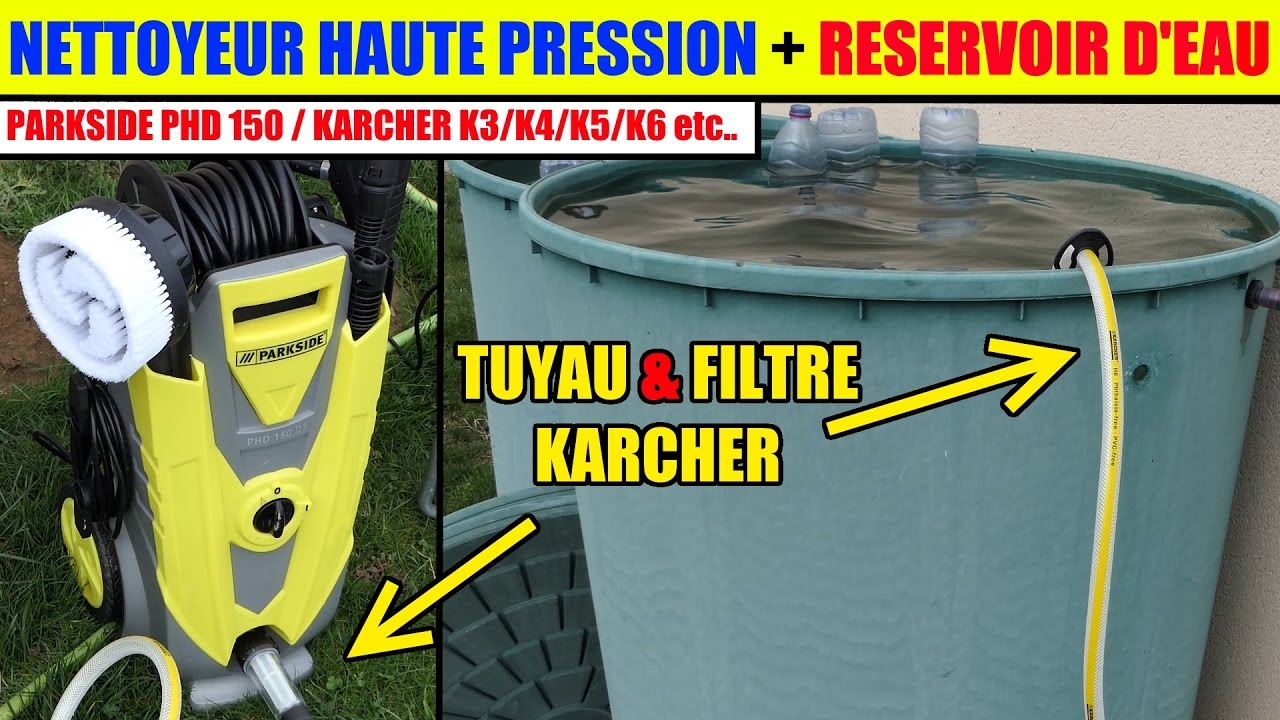 nettoyeur haute pression parkside karcher utiliser l 39 eau d 39 un r servoir d 39 eau tang etc youtube. Black Bedroom Furniture Sets. Home Design Ideas
