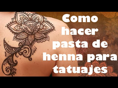 Henna 101 Como Hacer Pasta De Henna Natural Para Tatuajes