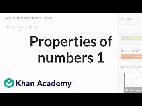 Properties of numbers 1 | Arithmetic properties | Pre-Algebra | Khan Academy