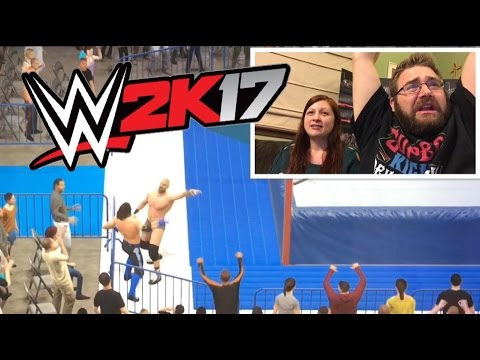 WWE2K17 GRIM VS HEEL WIFE Funny Moments WRESTLING MATCH! AJ Styles Vs Cesaro!