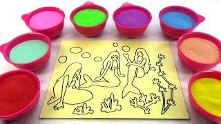 Nhà MÌnh Rất Vui!Nhạc Thiếu Nhi!Đồ chơi trẻ em TÔ MÀU TRANH CÁT HÌNH  Nàng Tiên CáColor Sand Paint