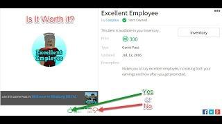 Excellent Employee Gamepass, Is It Worth It? Bloxburg Roblox