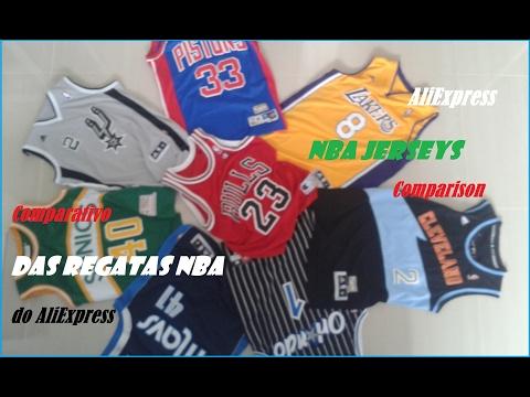 4d8c5520 NBA Jersey Size Comparison | AliExpress DHGate | Análise das Regatas NBA -  YouTube