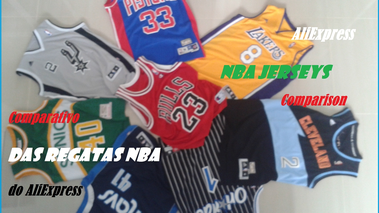 purchase cheap e54a0 e6d15 NBA Jersey Size Comparison | AliExpress DHGate | Análise das Regatas NBA