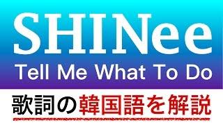 【歌詞で学ぶ韓国語】Tell Me What To Do/SHINee(シャイニー)の歌詞の英語・韓国語を日本語で詳しく解説!