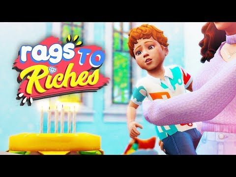 THE CUTEST BIRTHDAY!!! 🎂 // The Sims 4: Rags To Riches #27