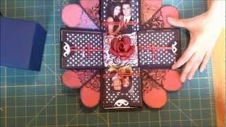 Caixa/cartao-surpresa - Exploding box scrapbook.wmv