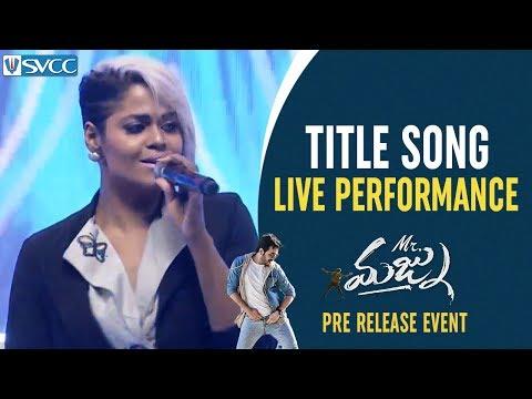 Mr Majnu Title Song LIVE Performance | Mr Majnu Pre Release Event | Akhil Akkineni | Jr NTR | Nidhhi