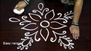 simple rangoli designs with out dots for beginners - freehand kolam designs - muggulu designs