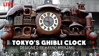 Tokyo's Ghibli Grand Clock in Motion & Shinbashi Area Tour