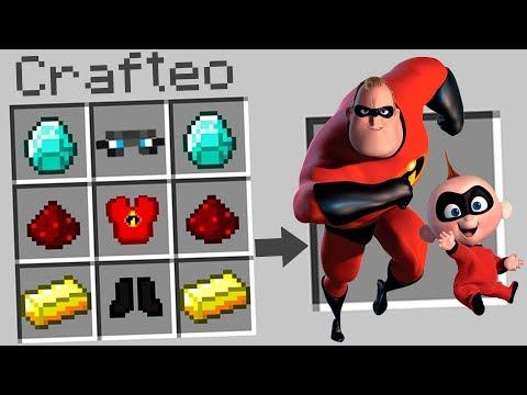 Minecraft   Como craftear y crear a LOS INCREÍBLES 2 en MINECRAFT!!