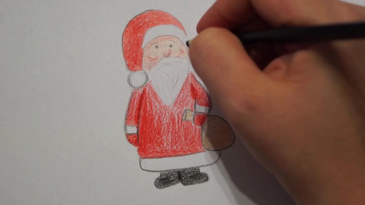 weihnachtsmann zeichnen how to draw santa claus. Black Bedroom Furniture Sets. Home Design Ideas
