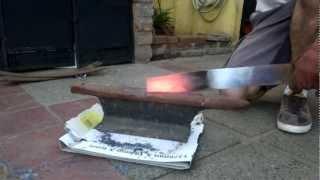 Fabricación de una falcata / Making of a falcata