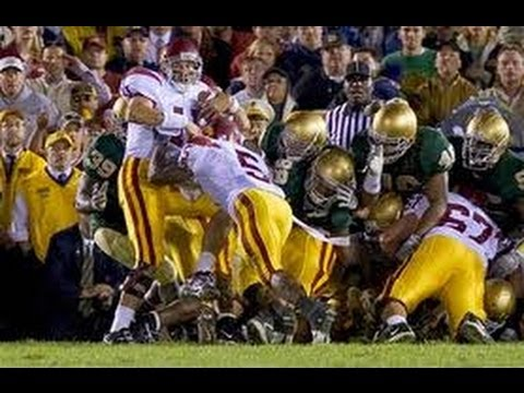 "10 years ago today: ""The Bush Push"" and one of the most intense games between USC and Notre Dame in their rivalry"