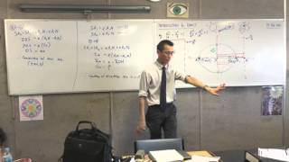 Introduction to Conics (6 of 8: Using Eccentricity to locate the foci of the Ellipse)