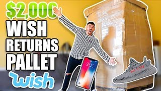 I Bought A $2000 Wish Returns Pallet AND FOUND THIS.. (Mystery Tech Return Pallet Unboxing)