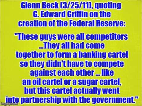 Glenn Beck gives a very critical summary of the Federal Reserve's creation, history and impact.
