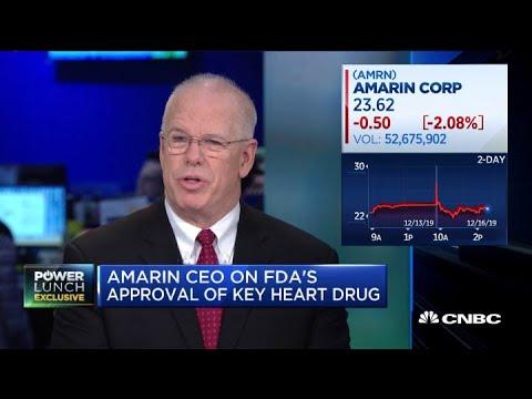Amarin CEO John Thero on company's FDA approval for key heart drug