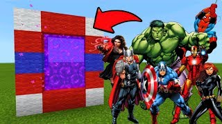 Minecraft Pe How To Make A Portal To The Avengers Dimension - Mcpe Portal To The Avengers!!!