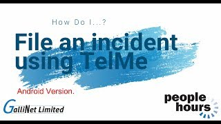 TelMe filing an incident