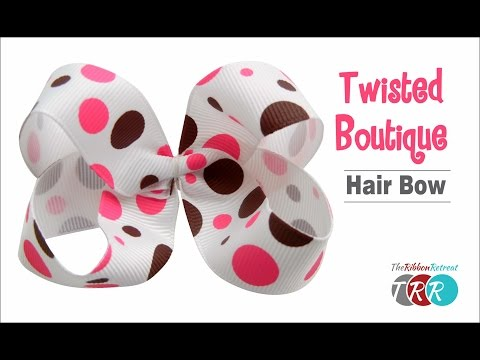 How to Make a Twisted Boutique Hair Bow - TheRibbonRetreat.com