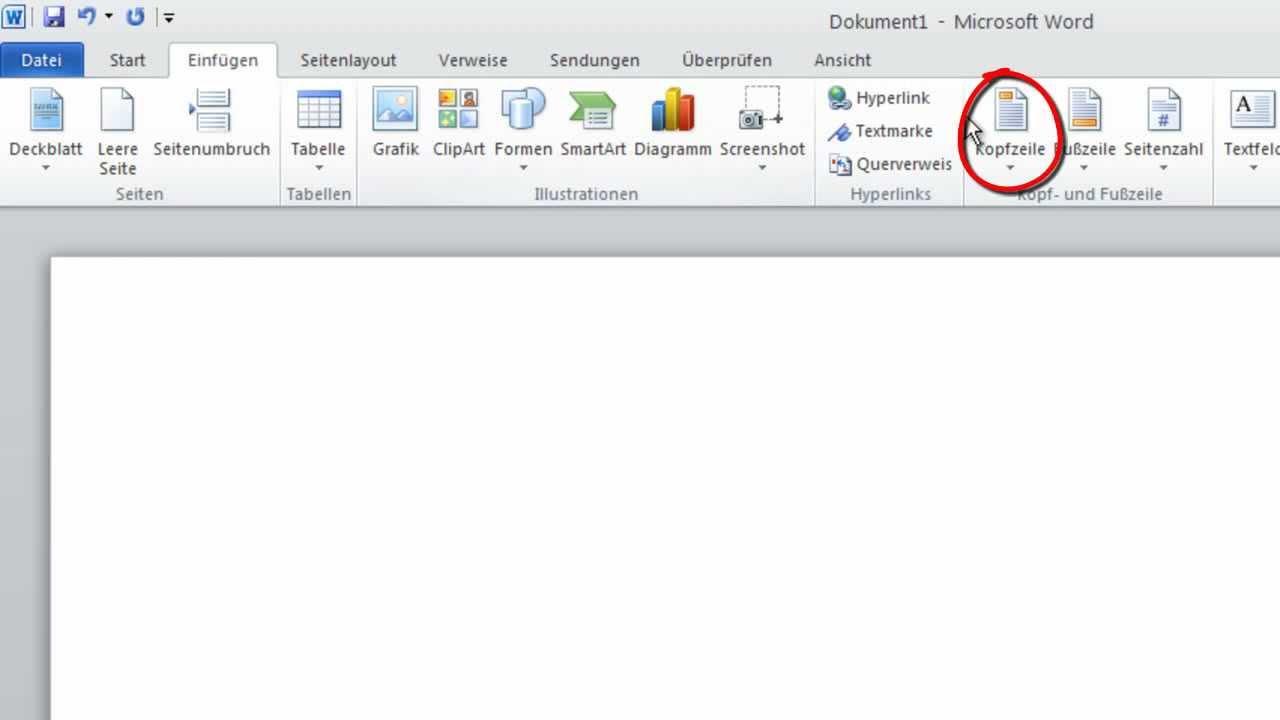 Word 2010 - Grafisches Logo auf jedem Dokument wiederholen - YouTube