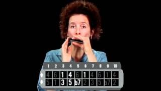 Harmonica Lessons - #10 Basic Blues Scale - Blues Harmonica Blueprint - Annie Raines
