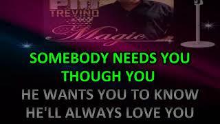 SOMEBODY LOVES YOU PIO TREVIÑO Y MAGIC KARAOKE