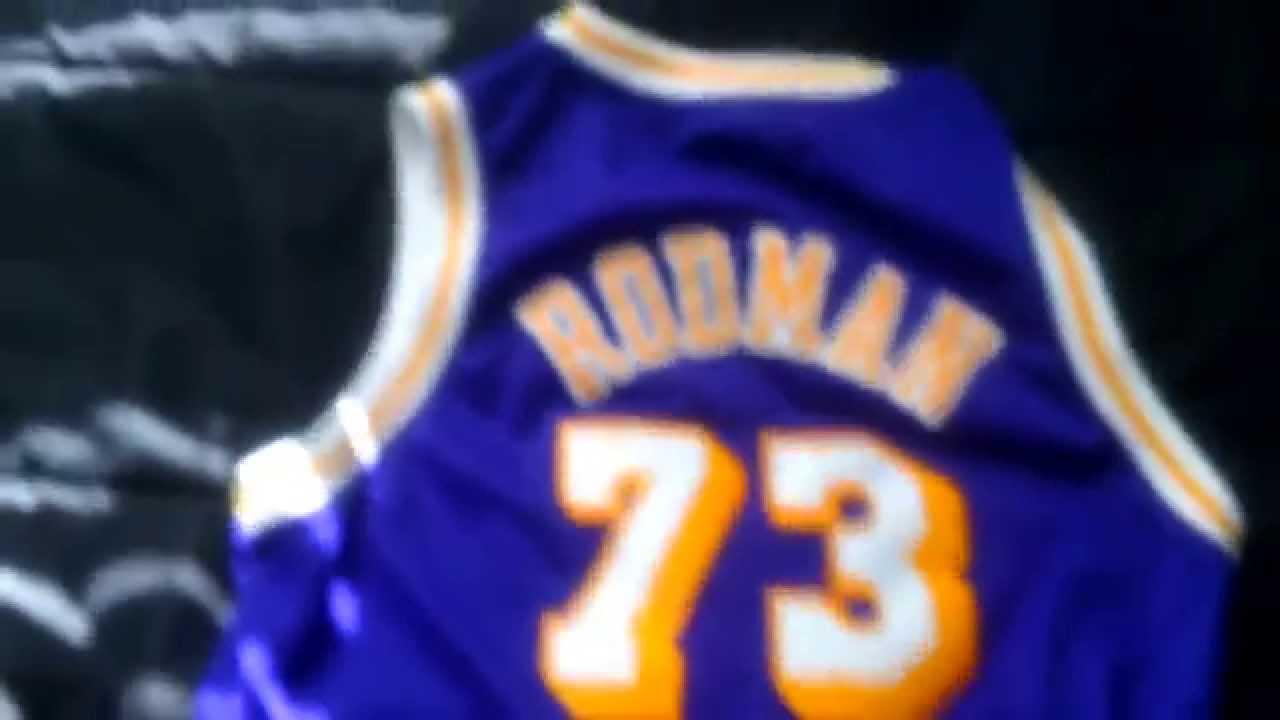 brand new e12ee b9f39 Dennis Rodman - LA Lakers Jersey
