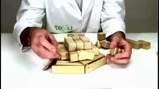 Building An Apple Pie Out Of Wooden Building Blocks From Tegu
