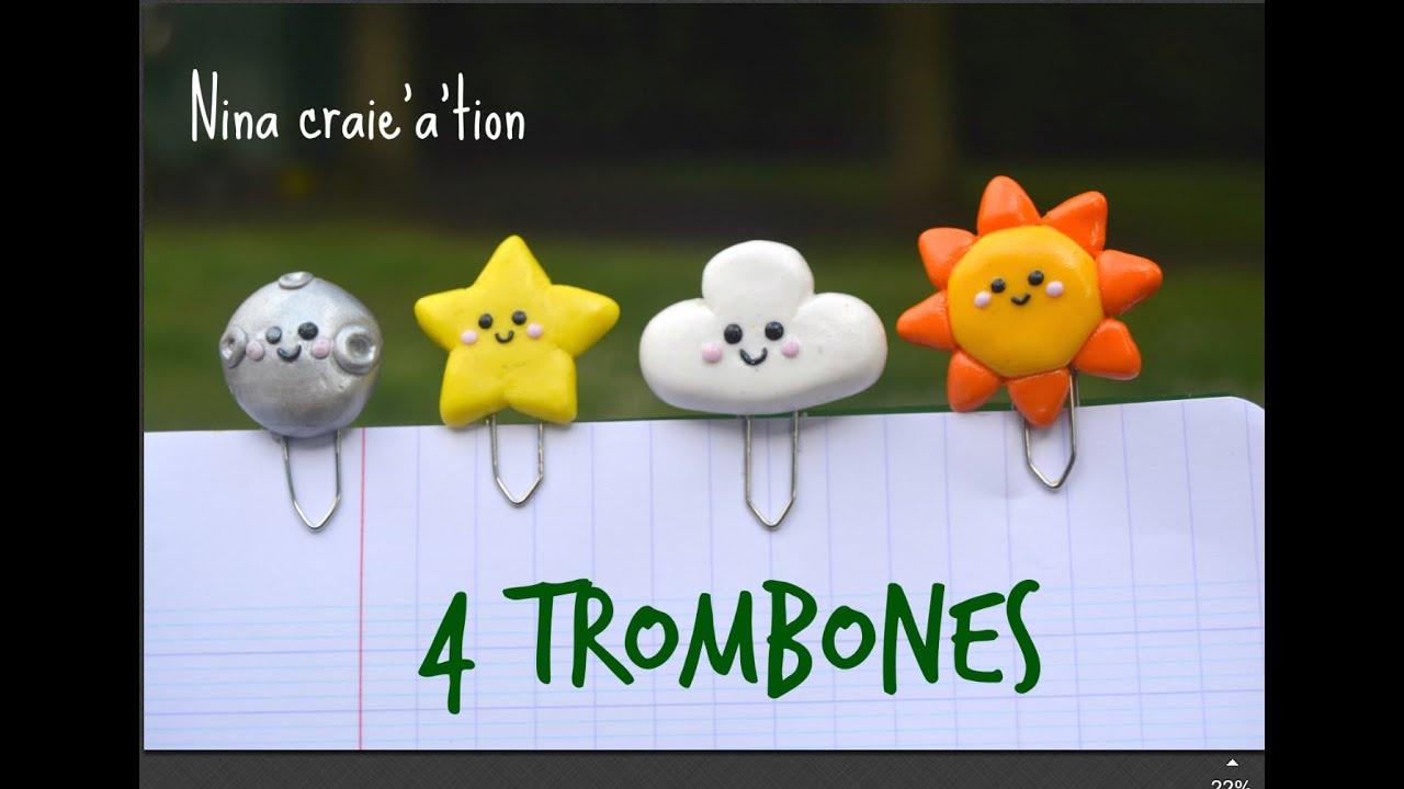 4 trombones kawaii i tuto fimo youtube. Black Bedroom Furniture Sets. Home Design Ideas