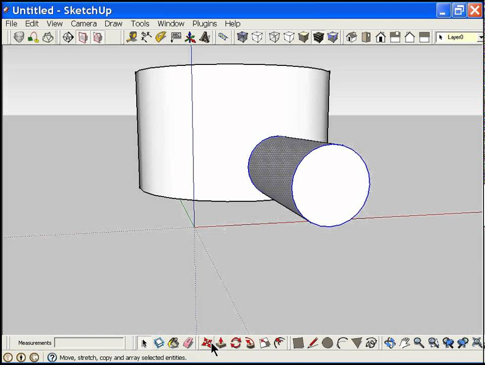 Cutting A Hole In Wall : Cutting a hole in curved suface or wall sketchup